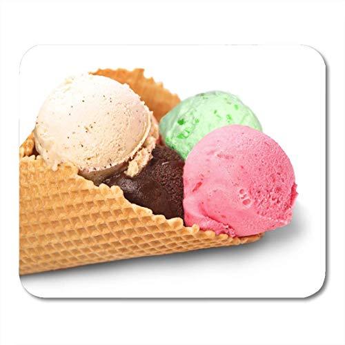 Mauspads rosa kalorien braun dessert eis weiß grün cremig mauspad für notebooks, Desktop-computer matten büromaterial