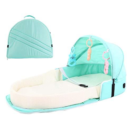 Baby Bassinet Portable Sac à dos pliable nouveau-né lit de couchage panier avec jouets protection solaire tente