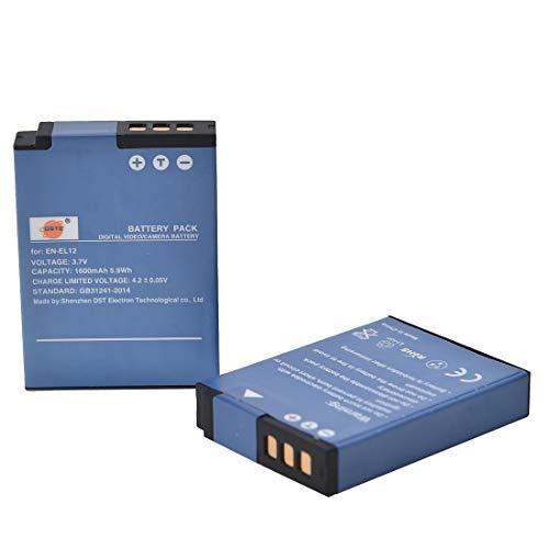 DSTE 2 Piezas de Recambio de bateria EN-EL12 Compatible con Nikon Coolpix A900 P300 P310...