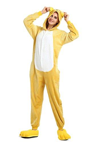 Combinaison d'hiver Chaude en Flanelle Pyjama Unisexe pour Adulte One Piece Mignon Ours Pyjama Bleu...