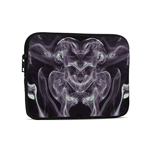 Smoke Skull Tablet Computer Bag Liner Bag Ipad Bag Computer Protective Cover, Innovative Fashion and Exquisite Printing Briefcaseblack 9.7 Inch