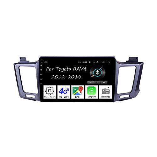 Android - Radio de coche con pantalla táctil de 9 pulgadas para Toyota RAV4 2012-2018, accesorios de coche, multimedia, control de volante con navegación Plug and Play, 8 núcleos 4G + 64G