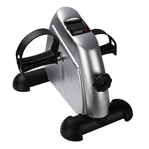 BMOT Mini Bike, Praktischer Arm- und Beintrainer mit LCD-Display, Fitnessbike, Fahrradergometer für Das Büro, Silber