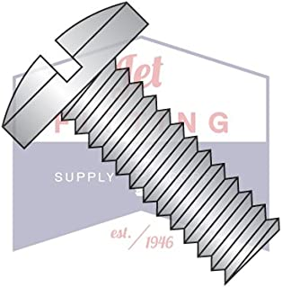 "8-32 x 3/4"" Machine Screws/Slotted/Binder Undercut Head / 18-8 Stainless Steel (Quantity: 4,000 pcs)"