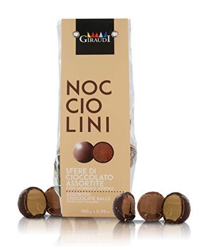 Giraudi Bombones para Regalo, esferas de Chocolate variadas, 150 gr - Surtido Doppiofiocco