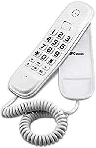 SPC 3601V, Original Lite Telefono fisso bianco da tavolo e da parete di facile utilizzo con 2 memorie dirette, ricomposizione ultimo numero e funzione mute, Bianco