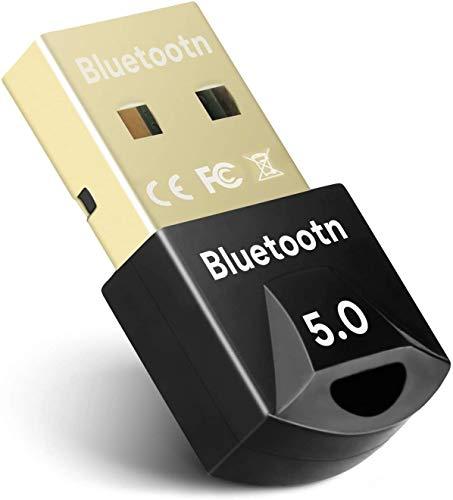 JILM USB Bluetooth 5.0 Adapter für PC, V5.0 Mini Bluetooth Dongle Transmitter und Empfänger Unterstützt Windows 10/8.1/8/7 für Laptop Bluetooth-Lautsprecher, Tastatur, Maus, Headset - Plug & Play