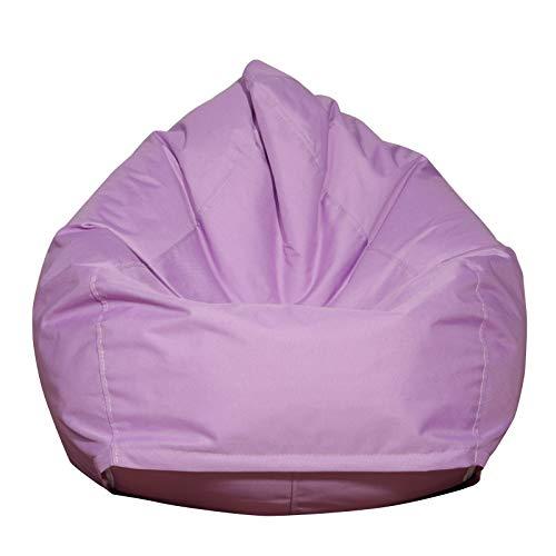 CENT Funda de Bean Bag Fundas para Sillón Puffs Pera Clásicas Impermeable Cubierta de Tumbona Perezosa Funda de Sofá Color Sólido Bolsa de Frijoles para Niños Adultos (Púrpura)
