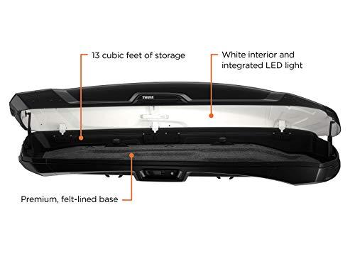 Thule Vector Rooftop Cargo Box, Alpine, Black Metallic