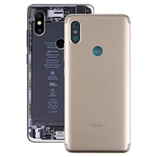 Reemplazo dañado Vieja Cubierta Trasera para el Caso de la contraportada del teléfono Inteligente Redmi S2 con Teclas Laterales for Xiaomi Redmi S2, Color Gris/Dorado (Color : Gold)