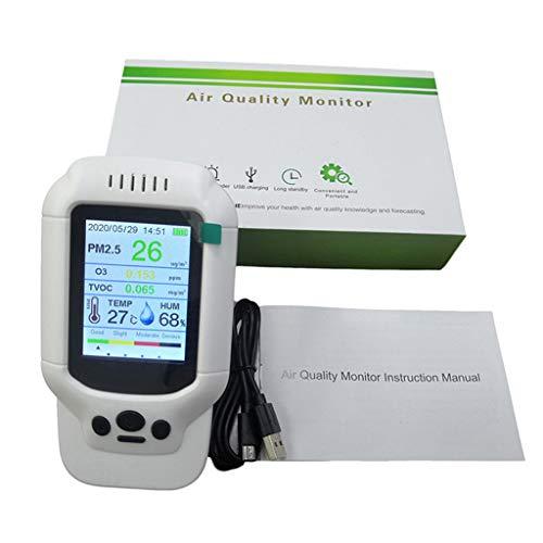 Medidor de ozono portátil O3 de 0 a 5 ppm de rango Probador de detección rápida de calidad del aire Detector de utilidad para usar