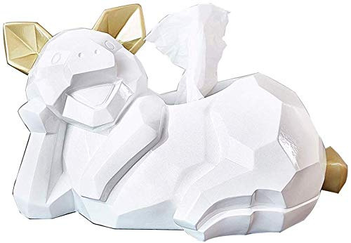 ZXL Creatieve geluksbrengende home crafts decoratie Nordic Origami varken tissuedoos opslag decoratie woonkamer salontafel creatieve verhuising geschenken (kleur: varken D