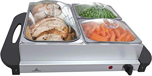 NOVA - Calentador eléctrico para Buffet, Temperatura Regulable 45-85 °C, Acero Inoxidable,...