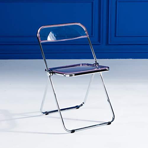 LYCIL Acryl Transparent Klappstühle,modernen Crystal Seat Klar Fold Up Stuhl Küche Bar Esszimmer Stuhl Make-up Stuhl Für Erwachsene Kinder D