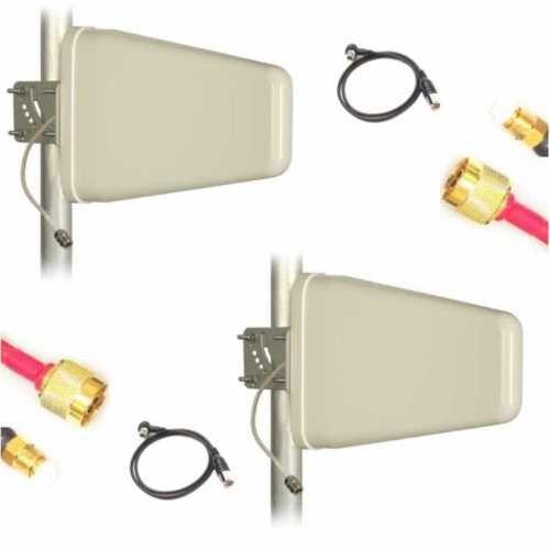 Antenne 2X 10dB Verstärkung im Set für LTE Vodafone GigaCube 2X Nf 800MHz LTE 2X 10m Kabel und passenden Steckern