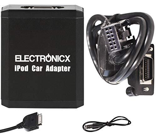 Electronicx Elec-M05-RD4 Adattatore interfaccia Compatibile con iPhone,iPod,iPad,AUX Peugeot con RD4 Radio e Citroen RD4
