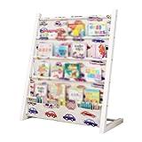 WJJ Estanteria Libros Estantería de los niños con el almacenamiento, los niños estantería y almacenamiento de juguetes, Estantería de libros de dibujos animados, Suelo Estudiante Estante, Material Ace