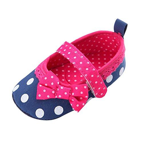 kingko® Bébé Infantile Enfants Fille Douce Sole Lit Enfant Nouveau-né Chaussures (0~6 Mois, Bleu)