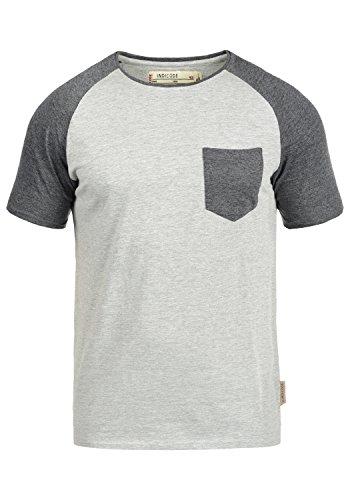 Indicode Gresham T-Shirt, Größe:M, Farbe:Light Grey Mix (913)