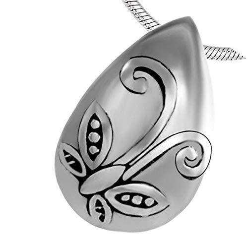SONGAI Exquis 20mm Petit Papillon Larme commémorative pendentifs for Animaux de Compagnie en Acier Inoxydable Animaux de crémation Bijoux Collier Cendres Titulaire (Metal Color : 10 pcs Pendant Only)