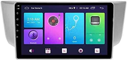 FDGBCF Android Car Stereo Sat Nav para Lexus RX Harrier 2003-2008 Unidad Principal Sistema de navegación GPS SWC 4G WiFi BT USB Mirror Link Carplay Integrado