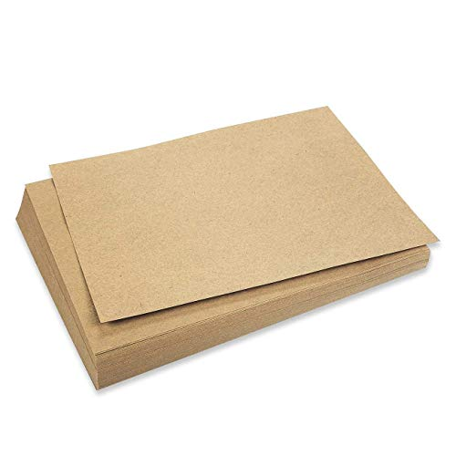 Kraft Stationary Paper, Letter Size (8.5 x 11 in, Brown, 96 Sheets)