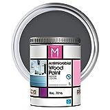 Pintura para muebles   Color Gris   1 Litro   RAL 7016   Pintura Interior   Protege y Embellece la Madera de los Muebles   Laca para Madera Antimicrobios