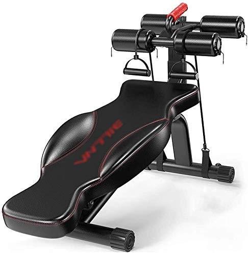Banco de pesas ajustable con mancuernas para el hogar, multifunción, para entrenamiento de pájaros, silla de fitness, color negro, 145 × 40,5 × 40 cm