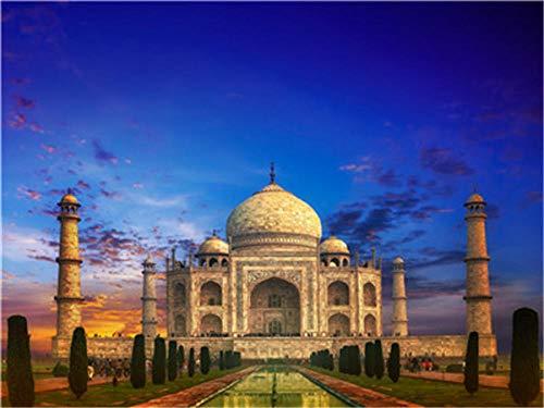 Puzzle 1000 Piezas Adultos  ,3D Puzzle Rompecabezas para Niños  Puzzle Adultos para Ejercitar la Lógica y la Coordinación Sensorial   Castillo de Taj Mahal  50x75cm