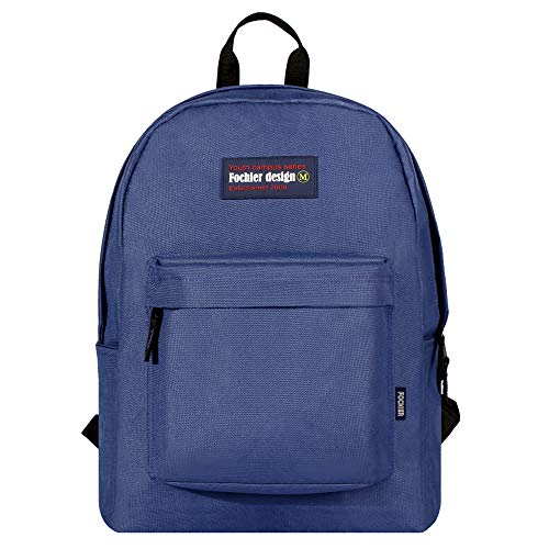 "FOCHIER F Fochier Unisex Classic Everyday School Laptop Daypack Backpack para Portátil DE 14""-15.6"",Azul Marino"