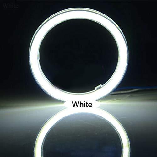 Angel Eyes LED Light, 60mm-120mm Car Vehicle Universal COB Ange-l EY-e LED Lampada per Fari Anulari Bianca 120 Millimetri