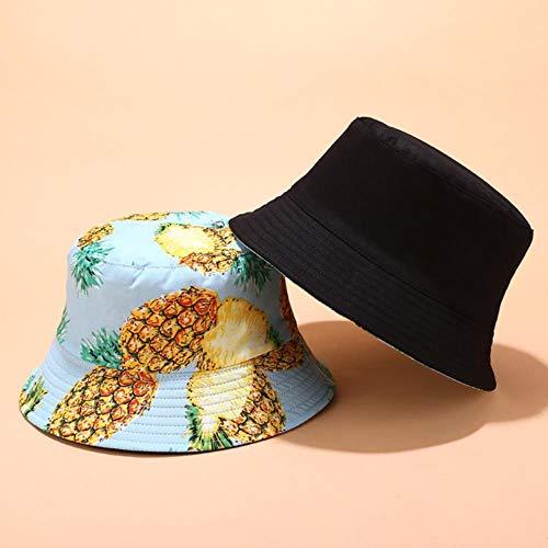 TUOF Sombrero de Pescador para Mujer Sombrero de sombrilla para Deportes al Aire Libre de Verano Sombrero de Gorra de Lavabo Informal Sombreros para el Sol, 3,56-58 cm