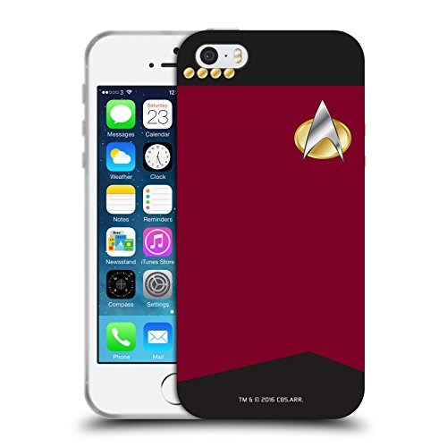 Head Case Designs Officially Licensed Star Trek Captain Uniforms and Badges TNG Soft Gel Case Compatible with Apple iPhone 5 / iPhone 5s / iPhone SE 2016