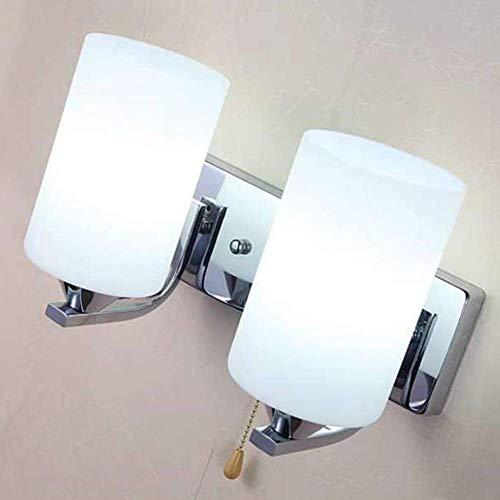 XXLYY Lámpara de Pared de Vidrio, iluminación de Interior, lámpara de Pasillo de cabecera, lámpara LED para Sala de Estar, Pasillo, Escalera, lámpara de Pared con Interruptor