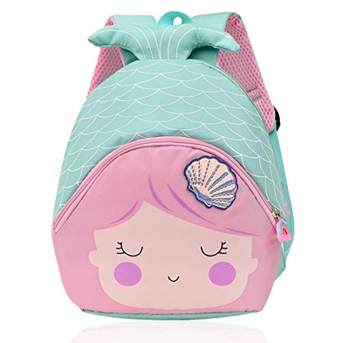 ZSWQ Mochila Infantil para Niños con Sirena Mochila para Niños De Niños y Niñas Sirena 3D Mochila Impermeable Bolsas De Viaje Regalos para Mochila Escolar Toddler Kids Pequeños Mochila (Azul)