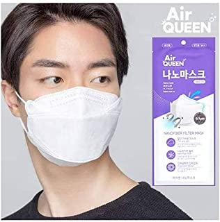POWERMEP LLC AirQueen Nano fiber Face Mask, 30PCS Individually packed (Made in Korea) (30 Packs) by AirQueen