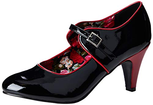 Joe Browns Bourbon St Pantent Shoes, Zapatos Planos Mary Jane para Mujer
