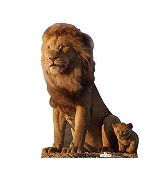 Advanced Graphics King Mufasa & Young Simba Life Size Cardboard Cutout Standup - Disney s The Lion King  2019 Film