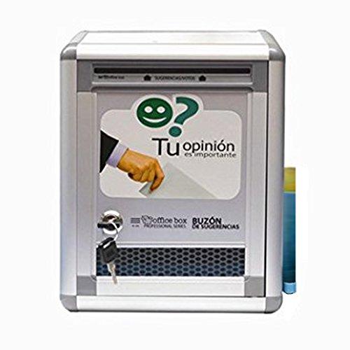 Buzón de sugerencias de aluminio Office box