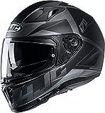HJC Helmets Herren Nc Motorrad Helm, schwarz, L