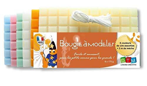 GRAINE CREATIVE 138100 Bougie à Modeler Pastel, Cire, Multicolore, 21 x 6,5 x 12 cm