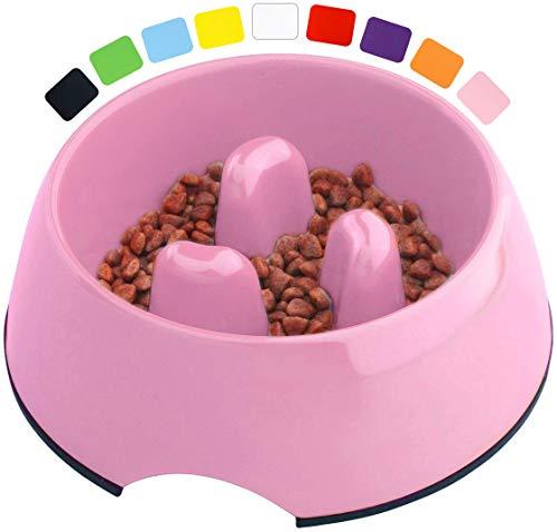 DDOXX Fressnapf Antischlingnapf, rutschfest | viele Farben & Größen | für kleine & große Hunde | Futter-Napf Katze | Hunde-Napf Hund | Katzen-Napf | Melamin-Napf | Rosa Pink, 600 ml