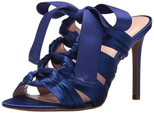 Avec Les Filles Womens Janelle Satin Open Toe Special Occasion, Blue, Size 7.5M
