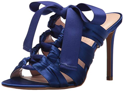Avec Les Filles Womens Janelle Satin Open Toe Special Occasion, Size 8.0, Royal Blue Satin