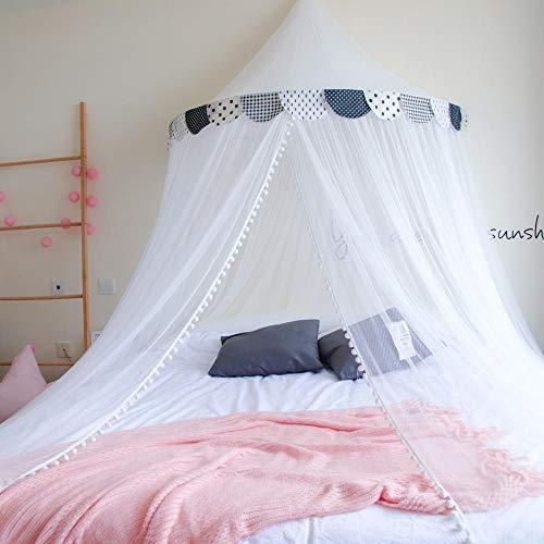 XNSY Betthimmel Hängende Decke Kuppel Kind Erwachsenen Moskitonetz Palast kostenlose Installation-schwarz_2,0 m Bett