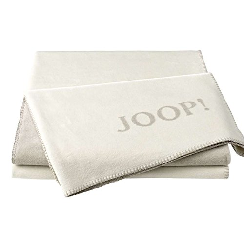 Joop! Plaid Uni-Doubleface | Ecru-Feder - 150 x 200 cm