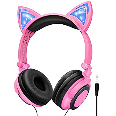 Kids Headphones Girls Wired, Headset for Childr...