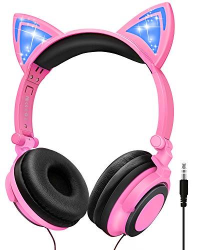 41nmU6De4QL - Kids Wireless Headphones Cat
