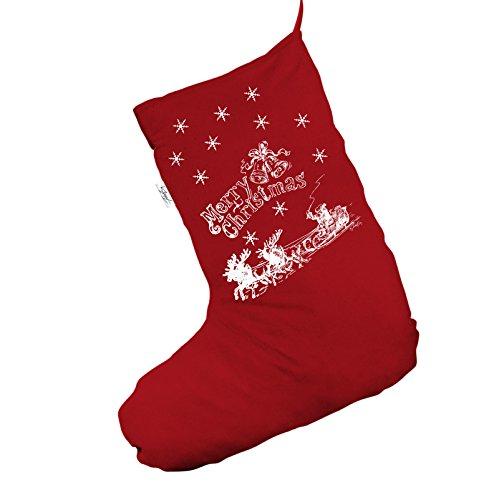 TWISTED ENVY Vintage Babbo Natale sulla Slitta Jumbo Rosso Calza di Natale