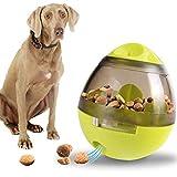 POPETPOP Dog Slow Feeder Nontoxic Interactive Fun Bite-resistant Food Dispensing Toy Pet Food Ball...